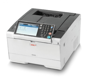 OKI C542dn A4 Colour LED Laser Printer with Free 3 years warranty and starter toner Cartridges