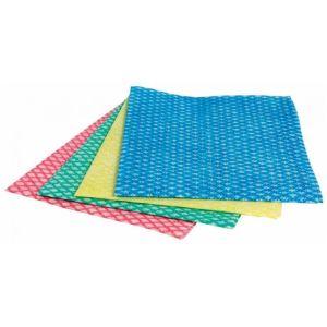 Lightweight Wiping Cloth - Jangro - Folded - Blue - 50 Cloths
