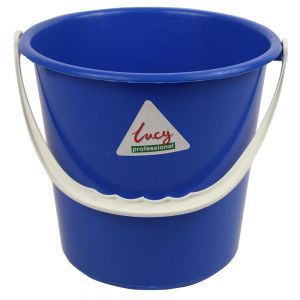 Plastic Bucket -  Round - Lucy - Blue - 8L (2.1 gal)