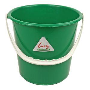 Plastic Bucket -  Round - Lucy - Green - 8L (2.1 gal)